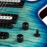Dean Icon Select Flame Top Ocean Burst detail