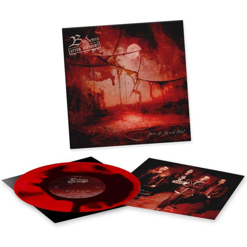 "RED BLACK Ink Spot 10"" Vinyl"